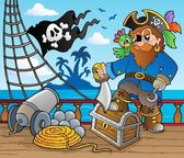 Pirate ship deck theme 2 — Stock Vector