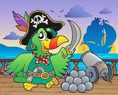 Pirate ship deck theme 5 — Stock Vector