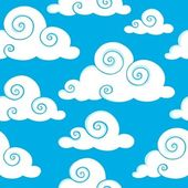 Seamless background with clouds 6 — Stock Vector