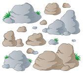 各种石头集合 1 — 图库矢量图片