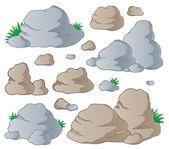Collection de pierres divers 1 — Vecteur