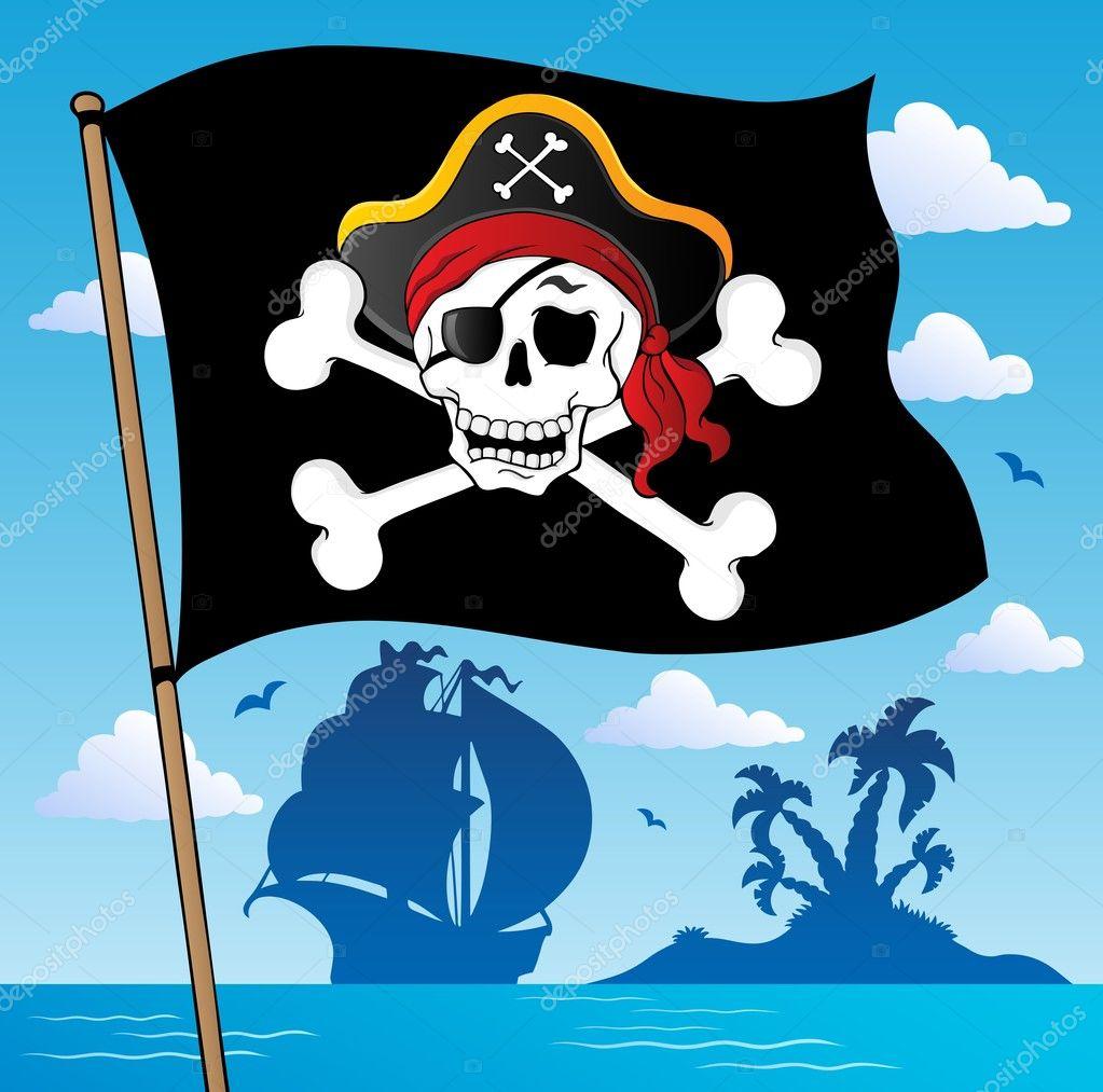 Пират флаг и рисунок