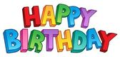 Happy Birthday big sign 1 — Stock Vector