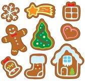 Christmas gingerbread collection 1 — Stock Vector