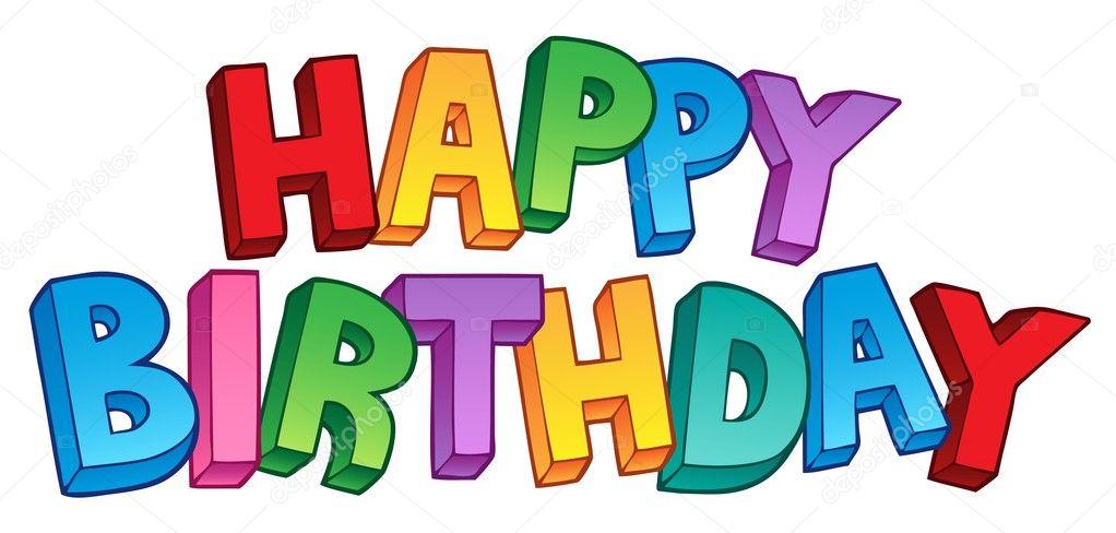 Happy Birthday big sign 1 — Stock Vector © clairev #8153749
