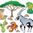 Stock Vector: Savannah animals collection 1