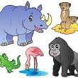 Zoo animals set 1 — Stock Vector