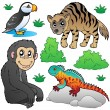 Zoo animals set 2 — Stock Vector