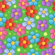 Vector de stock : Flowery seamless background 1