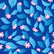 Flowery seamless background 3 — Stockvectorbeeld
