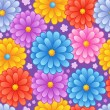 Stock Vector: Flowery seamless background 4