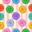 Flowery seamless background 5 — Stockvectorbeeld