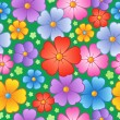Stock Vector: Flowery seamless background 6
