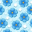 Flowery seamless background 7 — Vector de stock #8678106