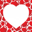 Royalty-Free Stock Imagem Vetorial: Heart shaped frame 1