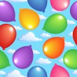 Seamless background with balloons 2 — Stock vektor
