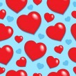 Seamless background with hearts 1 — Stock Vector