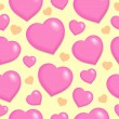 Royalty-Free Stock Vector Image: Seamless background with hearts 2