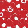 Seamless background with hearts 5 — Stock Vector