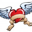 Stylized heart with wings 2 — Image vectorielle