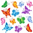 Various butterflies collection 1 — Stok Vektör