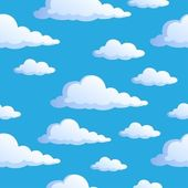 Seamless background with clouds 1 — Stock Vector