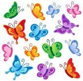 Various butterflies collection 1 — Stock Vector