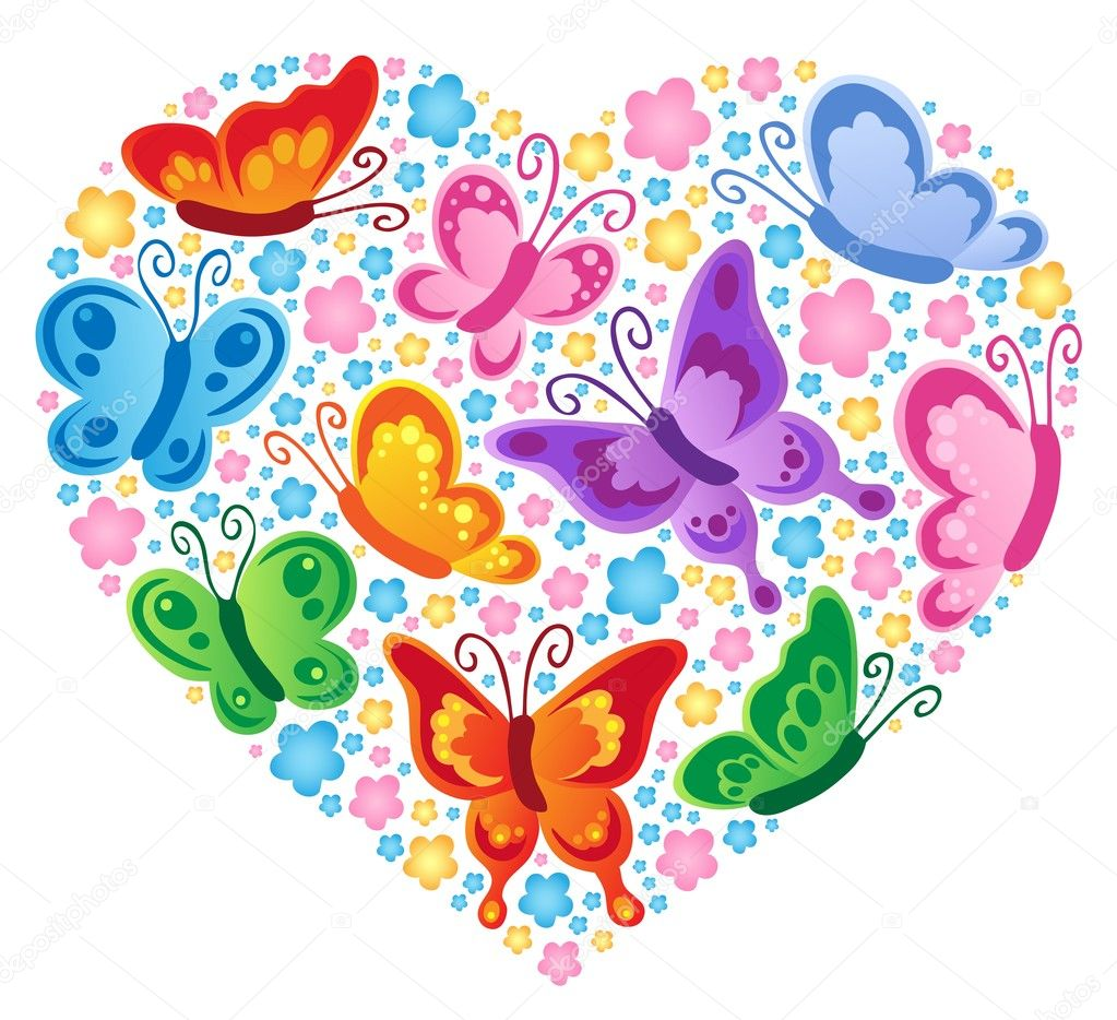 Heart theme image 4 - vector illustration. — Stock Vector #8678275