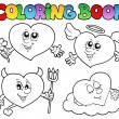 Coloring book hearts collection 2 — Stock Vector #9028714
