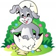 Royalty-Free Stock Vector Image: Easter bunny theme image 2