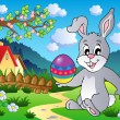Royalty-Free Stock Vector Image: Easter bunny theme image 4
