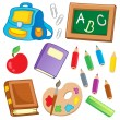 School drawings collection 2 — Stock Vector