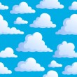 Seamless background with clouds 3 — Stock Vector