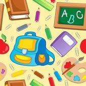 School theme seamless background 1 — Stock Vector