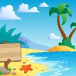 Beach theme scenery 2 — Stock Vector