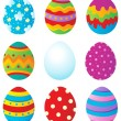Easter eggs collection 1 — Stock Vector