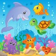 Image with undersea theme 2 - Stock Vector