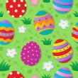 Seamless Easter theme background — Stock Vector