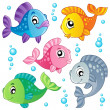 Various cute fishes collection 3 — Stock Vector #9589083