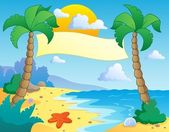 Beach theme scenery 4 — Stock Vector
