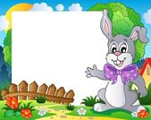 Frame with Easter bunny theme 2 — Stock Vector