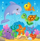 Image with undersea theme 2 — Stock Vector