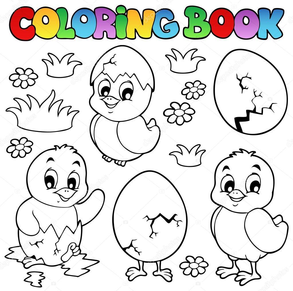 Раскраска невылупившихся птенцов