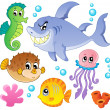 Stock Vector: Sefishes and animals collection 4