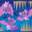 Stock Vector: Bats theme image 1