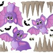 Stock Vector: Cartoon bats collection