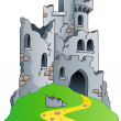 Castle ruins on hill — Stock Vector