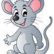 Cute cartoon mouse — Stock Vector