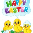 Stock Vector: Happy Easter sign theme image 5