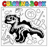 Coloring book with excavation site — Stock Vector
